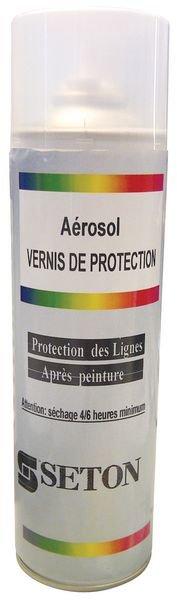 Vernis incolore en aérosol pour la protection des peintures au sol