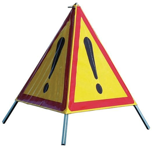 Tripode de chantier pliable pour signalisation temporaire de danger