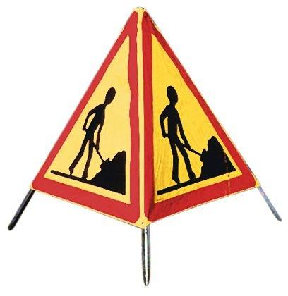 Tripode de chantier pliable pour signalisation temporaire de travaux