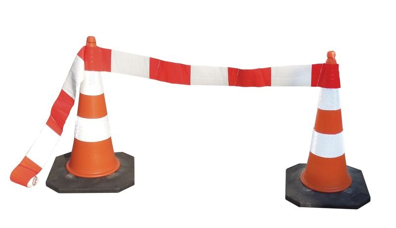 Barrages souples ou rigides rétro-réfléchissants pour cônes de chantier