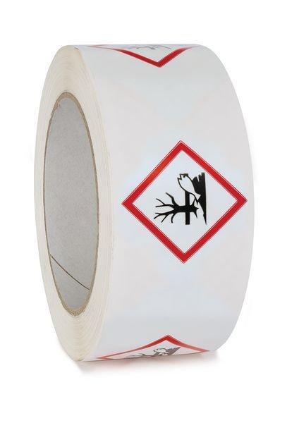 """Ruban d'emballage en polypropylène """"Danger pour le milieu aquatique"""""""