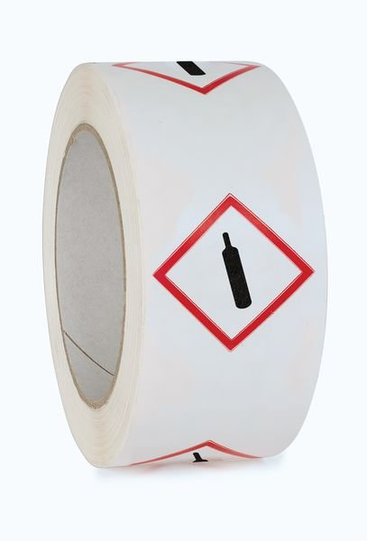 "Ruban d'emballage en polypropylène ""Matières gazeuses sous pression"""