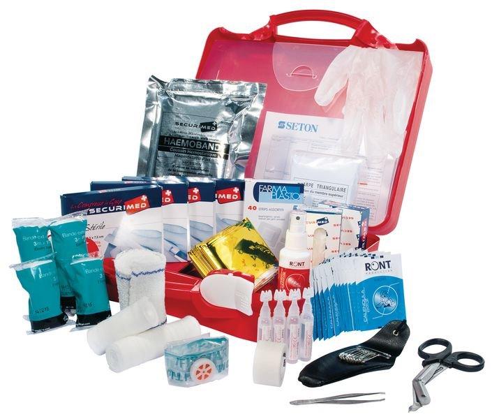 Trousse de secours BTP en plastique pour 20 personnes