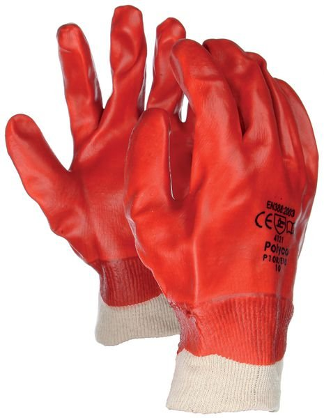Gants de manutention en PVC enduit résistants à l'abrasion