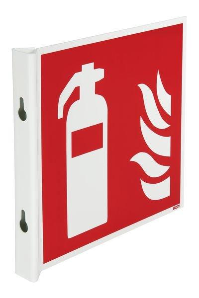 Panneaux en drapeau et tridimensionnels NF EN ISO 7010 Extincteur d'incendie
