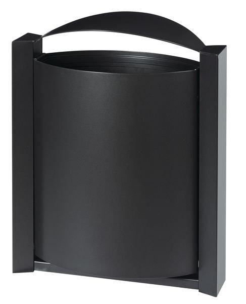 Poubelle extérieure ovale en acier