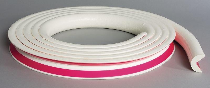 Cornière de protection en mousse Optichoc arrondie couleur unie - coin de 25 mm