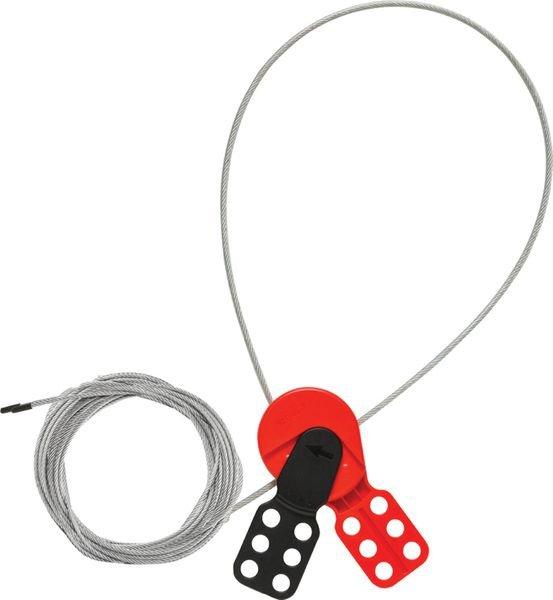 Système de condamnation universel 2 en 1 par câble en acier