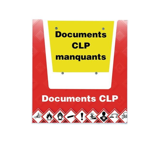 Porte-documents mural - Documents CLP