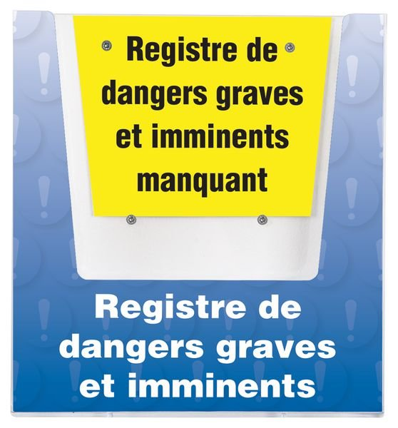 Porte-documents mural - Registre de dangers graves et imminents.
