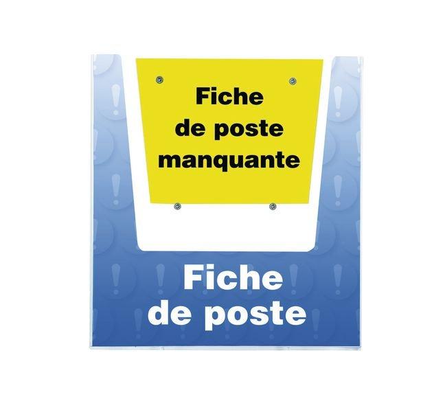 Porte-documents mural - Fiche de poste