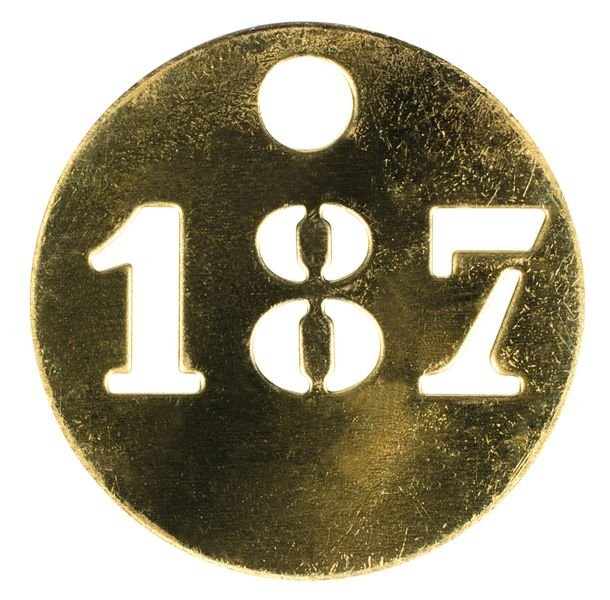 Jetons de marquage numérotés en métal ajouré