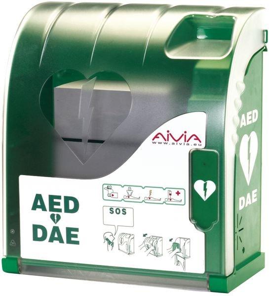 Armoire pour défibrillateur à usage intérieur avec alarme