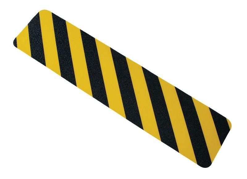 Bande antidérapante adhésive jaune et noire prédécoupée Easy Clean
