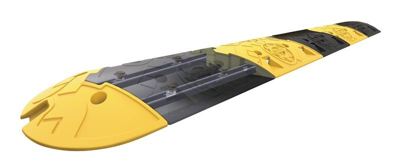 Kit ralentisseur 75 mm avec rail - 8 km/h