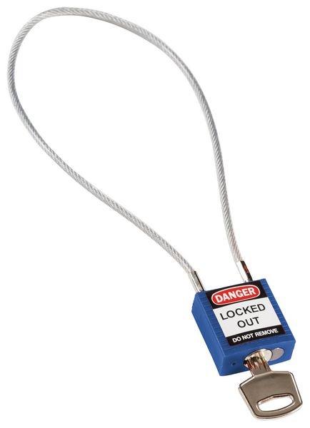 Cadenas de sécurité compact à câble - spécial consignation électrique