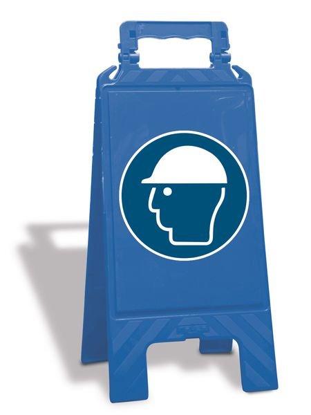 Chevalet de signalisation - Casque de protection obligatoire - M014
