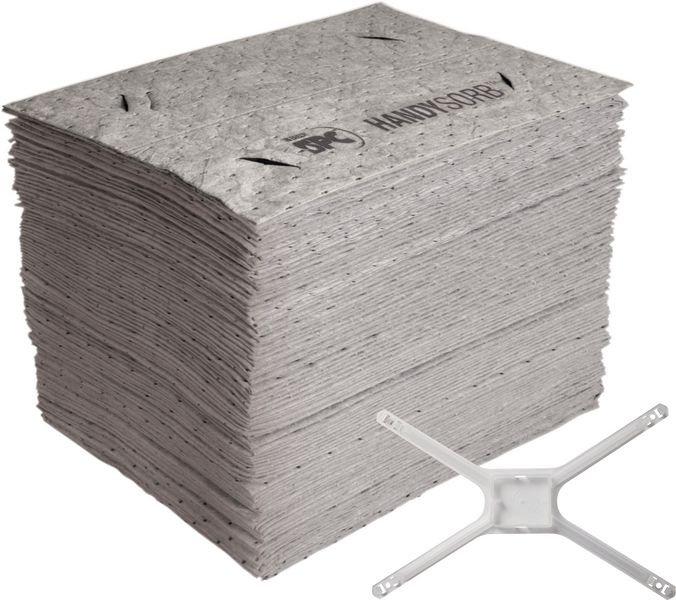 Recharge de feuilles universelles avec adaptateur pour kit de démarrage absorbant