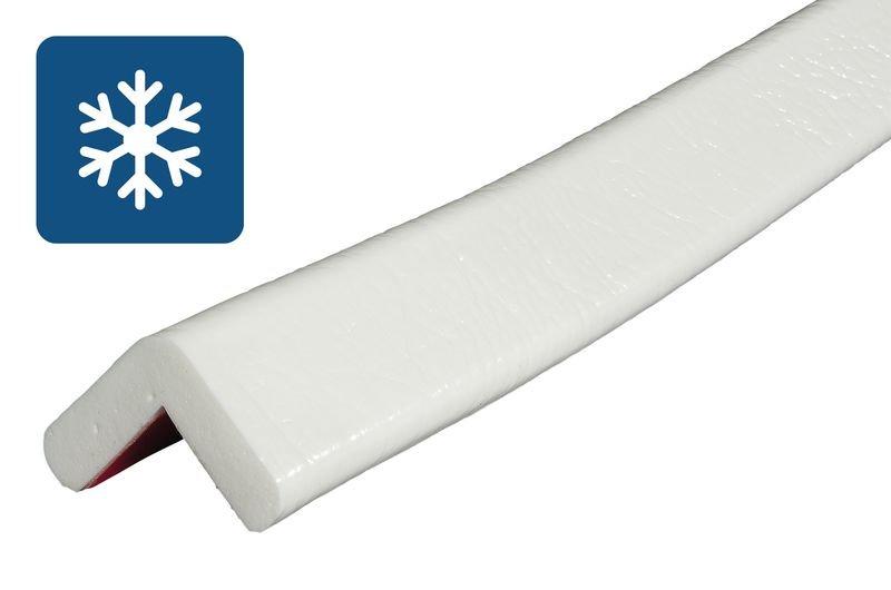 Cornière de protection en mousse Optichoc mince pour environnements froids couleur unie - coin de 19 mm
