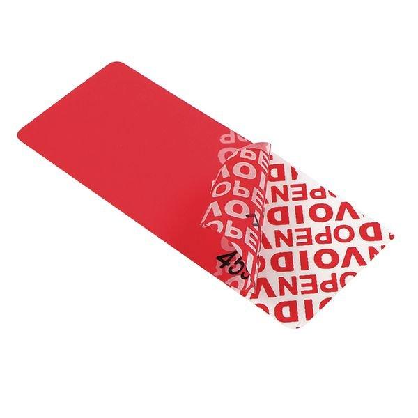 Etiquettes VOID vierges avec transfert
