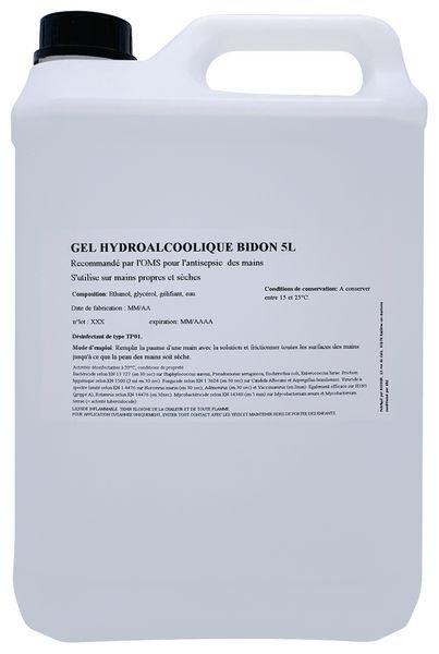 Bidon de gel hydroalcoolique de 5l