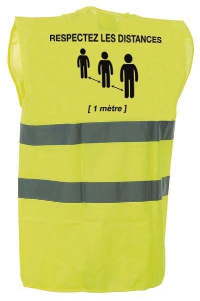 Gilet jaune avec distance de sécurité