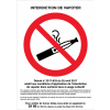 Affiche officielle - Interdiction de vapoter