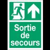 """Panneaux d'évacuation A4 et A3 """"Homme qui court, flèche en haut - Sortie de secours"""""""