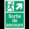 """Panneaux d'évacuation A4 et A3 """"Homme qui monte, flèche à droite"""""""