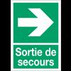 """Panneaux d'évacuation A4 et A3 """"Flèche à droite"""""""
