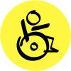 """Plaques signalétiques design """"Handicapés"""""""