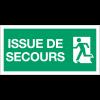 """Panneaux d'évacuation haute résistance """"Sortie de secours (à gauche) - Issue de secours"""""""
