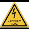 Panneaux de danger électrique 230 V / 400 V / 50 HZ