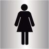 """Plaque signalétique colorée adhésive """"Toilettes femme"""""""