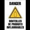 """Panneaux de signalisation """"Bouteille de gaz - Danger bouteilles de produits inflammables"""""""
