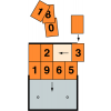 Chiffres pour plaques oranges à chiffres interchangeables