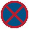 """Panneaux d'interdiction """"Arrêt et stationnement interdits"""""""