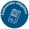 """Panneaux d'obligation """"Explosimètre obligatoire"""""""