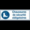 Panneaux d'obligation rectangulaires - Chaussures de sécurité obligatoires
