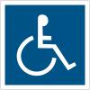 """Panneau accessibilité """"Handicapés"""""""