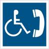 """Panneau accessibilité """"Téléphone accessible aux handicapés"""""""