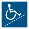 """Panneau accessibilité """"Rampe d'accessibilité handicapés"""""""