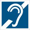 """Panneau accessibilité """"Amplificateur par boucle magnétique pour les malentendants"""""""