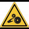 """Etiquettes de signalisation pour machines """"Risque d'écrasement, rouleaux lisses"""""""