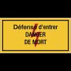 Panneaux de danger électrique rectangulaires - Défense d'entrer danger de mort