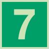 """Panneaux d'évacuation et de secours """"Niveau, étage 7"""""""