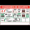 Affichage à compléter - Consignes de sécurité