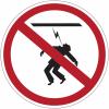 """Mini-pictogrammes d'interdiction """"Danger électrique, haute tension, défense de toucher"""" en rouleau"""