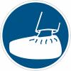"""Mini-pictogrammes d'obligation """"Port obligatoire de surchaussures"""" en rouleau"""