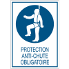 Panneaux de signalisation de sécurité standards - Protection anti-chute obligatoire